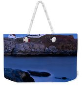 Nubble Lighthouse Weekender Tote Bag by Brian Jannsen