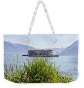 Passenger Ship On An Alpine Lake Weekender Tote Bag