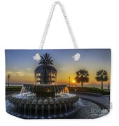 Sun Rays Over Waterfront Park Weekender Tote Bag