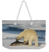 Polar Bear With Fresh Kill Weekender Tote Bag
