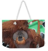 Portrait Of A Large Male Orangutan Weekender Tote Bag