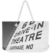 Route 66 Drive-in Theatre Weekender Tote Bag by Frank Romeo