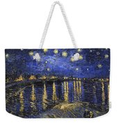 Starry Night Over The Rhone Weekender Tote Bag