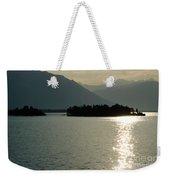 Sunshine Over An Alpine Lake Weekender Tote Bag