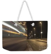 Tram At Night Weekender Tote Bag