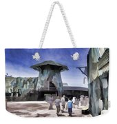 Visitors Heading Towards The Waterworld Attraction Weekender Tote Bag