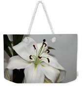 White Lily In Macro Weekender Tote Bag