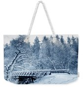 Winter White Forest Weekender Tote Bag