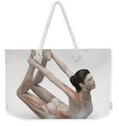 Yoga Bow Pose Weekender Tote Bag