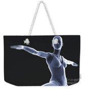 Yoga Warrior II Pose Weekender Tote Bag