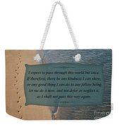 62- Inspiration Weekender Tote Bag