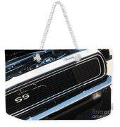 67 Black Camaro Ss Grill-8039-2 Weekender Tote Bag