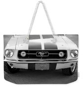 67 Mustang Front In Black Weekender Tote Bag