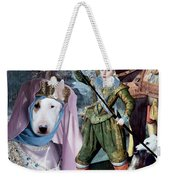 Bull Terrier Art Canvas Print Weekender Tote Bag