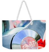 1960 Chevrolet Corvette Steering Wheel Emblem Weekender Tote Bag by Jill Reger