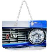 1969 Chevrolet Camaro Z-28 Grille Emblem Weekender Tote Bag