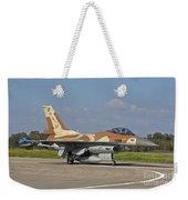 An F-16c Barak Of The Israeli Air Force Weekender Tote Bag