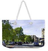 Cars On A Street In Edinburgh Weekender Tote Bag