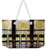 7 Chairs And Stained Glass Weekender Tote Bag