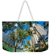 Downtown Miami Brickell Fisheye Weekender Tote Bag