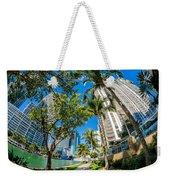 Downtown Miami Brickell Fisheye Weekender Tote Bag