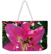 Dwarf Oriental Lily Named Farolito Weekender Tote Bag