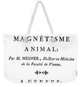 Franz Mesmer (1734-1815) Weekender Tote Bag