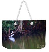 Great White Heron At Waters Edge Weekender Tote Bag