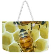 Honey Bees In Hive Weekender Tote Bag