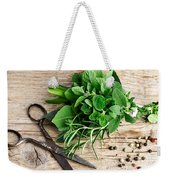 Kitchen Herbs Weekender Tote Bag