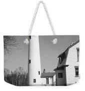 Lighthouse - Presque Isle Michigan Weekender Tote Bag