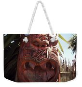 Maori Carving Weekender Tote Bag by Les Cunliffe