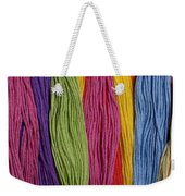 Multicolored Embroidery Thread In Rows Weekender Tote Bag