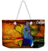 Oakland Map And Skyline Watercolor Weekender Tote Bag