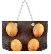 Organic Eggs Weekender Tote Bag by George Atsametakis