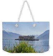 Passenger Ship On An Alpine Lake Weekender Tote Bag