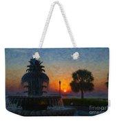 Pineapple Fountain At Dawn Weekender Tote Bag