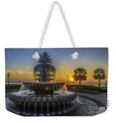 Pineapple Fountain At Sunrise Weekender Tote Bag