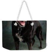 Portrait Of A Labrador Golden Mixed Dog Weekender Tote Bag