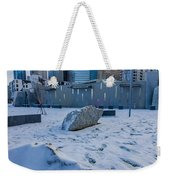 Rare Winter Scenery Around Charlotte North Carolina Weekender Tote Bag