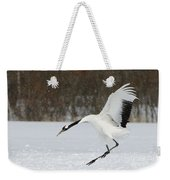 Red-crowned Cranes Weekender Tote Bag