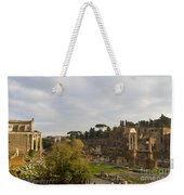 Ruins In The Roman Forum Rome Italy Weekender Tote Bag