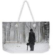 Snowy Day Weekender Tote Bag