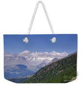 Swiss Alps Weekender Tote Bag
