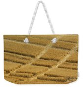 Tracks In Field Weekender Tote Bag