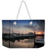 Yachts At Sunset Weekender Tote Bag