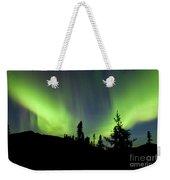 Yukon Taiga Spruce Northern Lights Aurora Borealis Weekender Tote Bag