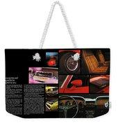 '70 Mustang Options Weekender Tote Bag