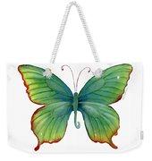 74 Green Flame Tip Butterfly Weekender Tote Bag