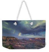 749220049 Double Rainbow Cape Royal North Rim Grand Canyon National Park Weekender Tote Bag